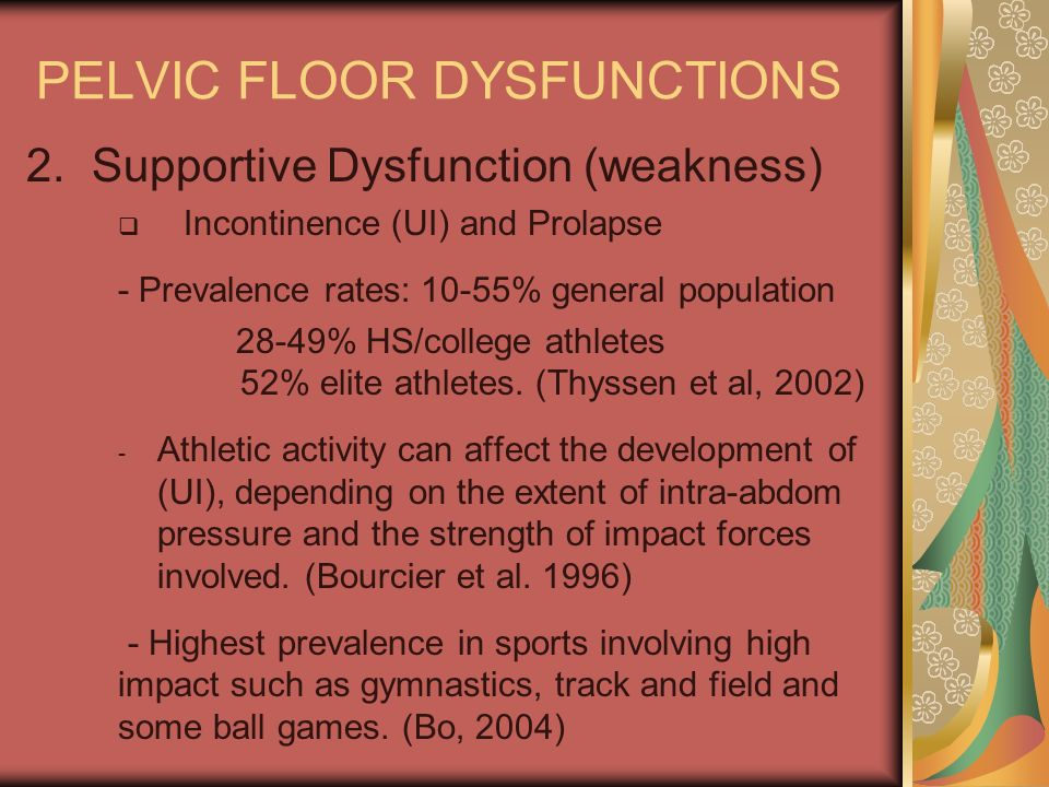 PELVIC FLOOR DYSFUNCTIONS