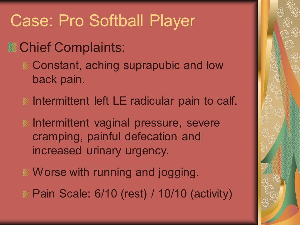 Case: Pro Softball Player