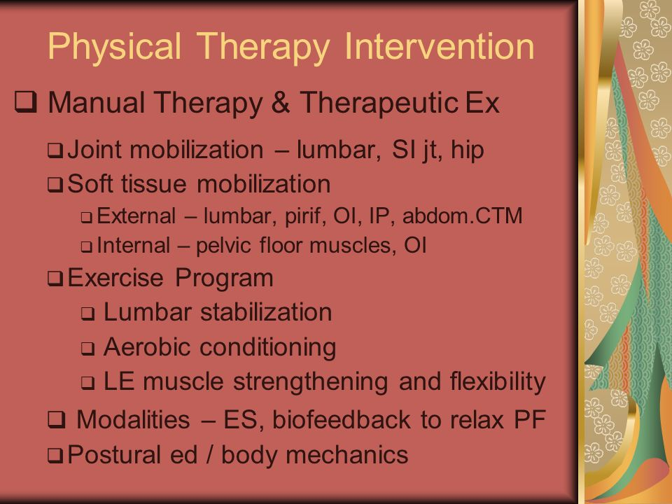 Physical Therapy Intervention