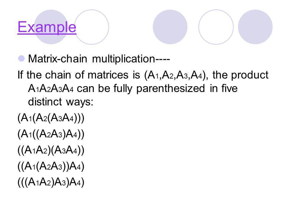 Example Matrix-chain multiplication----