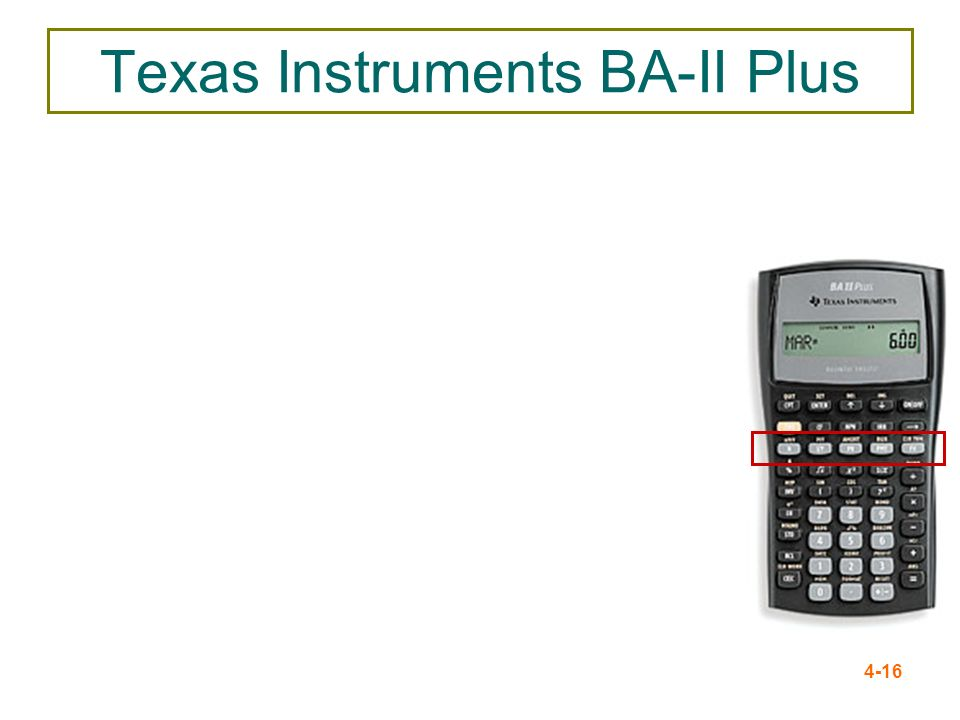 Texas Instruments BA-II Plus