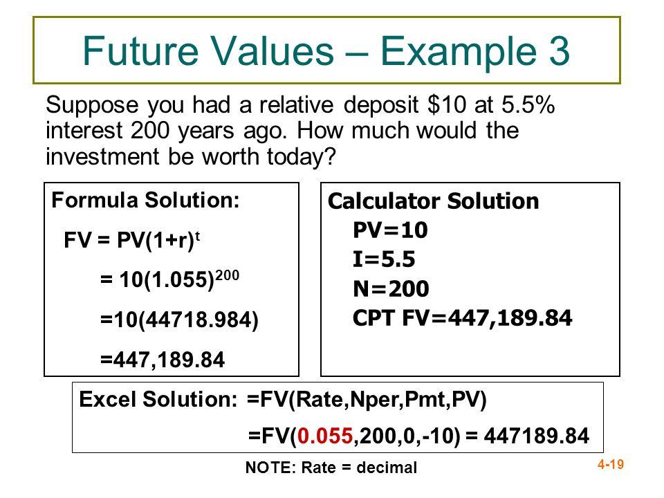 Future Values – Example 3