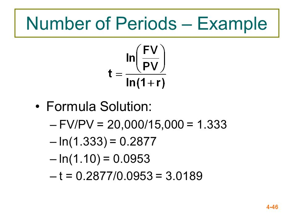 Number of Periods – Example