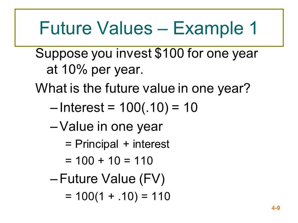 Future Values – Example 1
