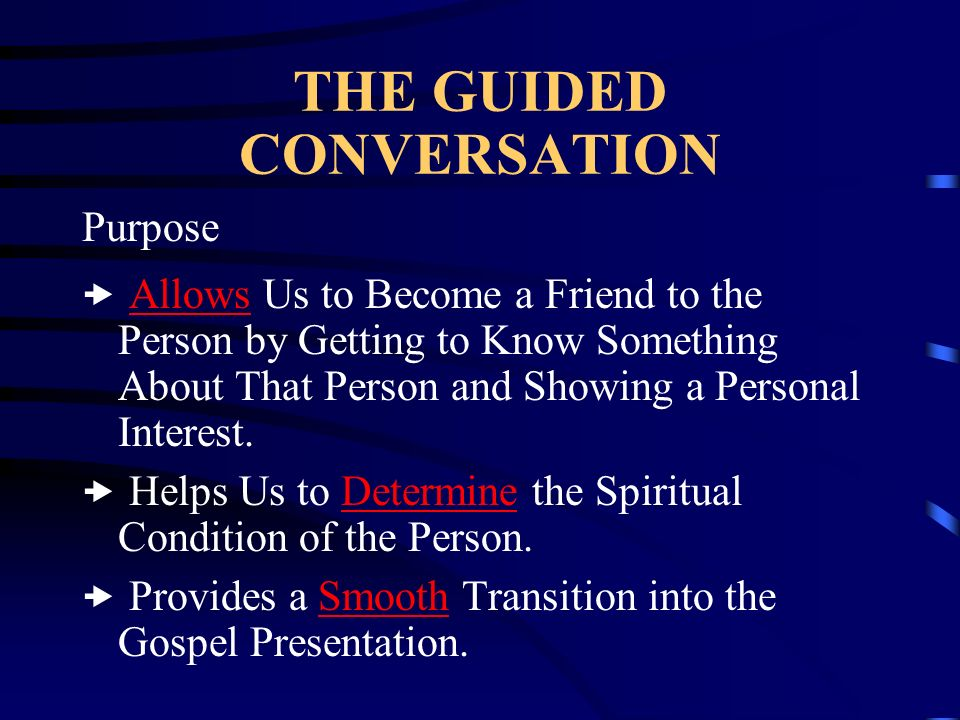 THE GUIDED CONVERSATION