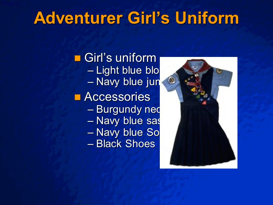 Adventurer Girl's Uniform