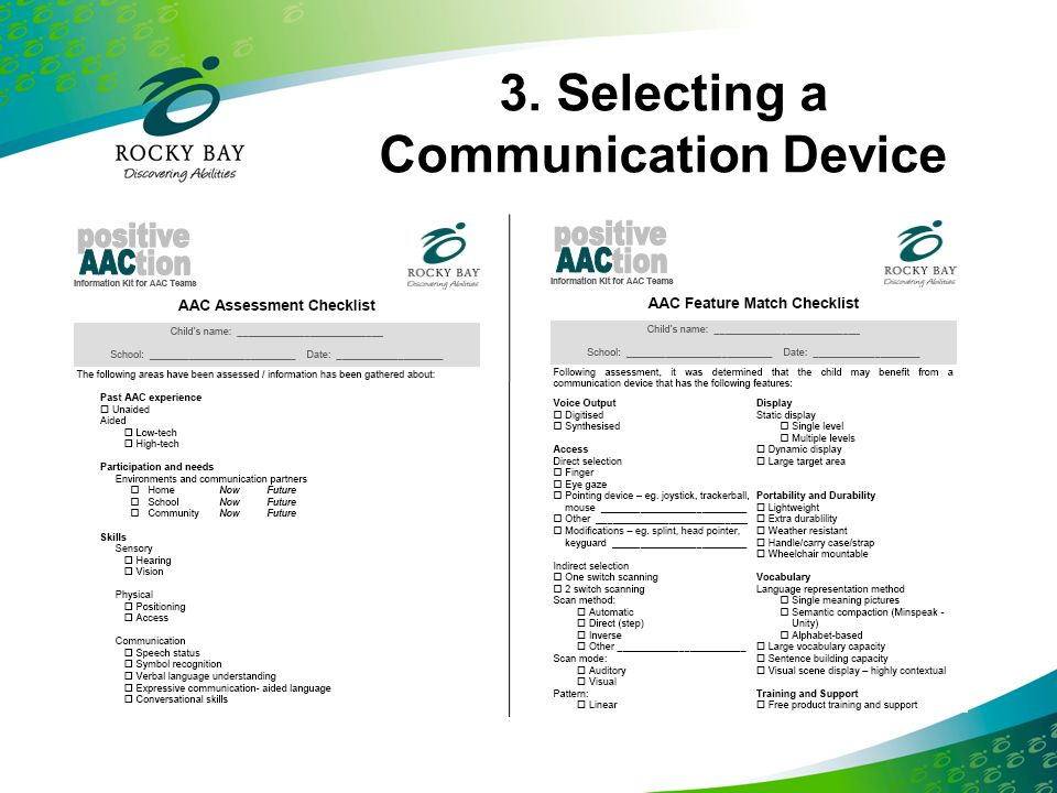 3. Selecting a Communication Device