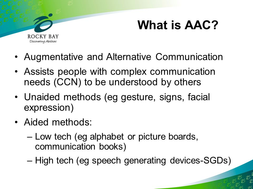What is AAC Augmentative and Alternative Communication