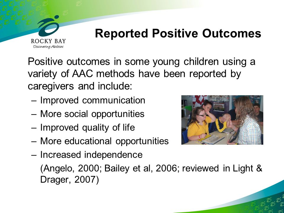Reported Positive Outcomes
