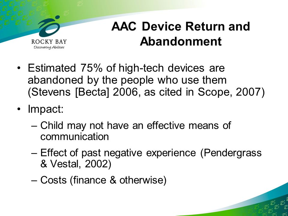 AAC Device Return and Abandonment