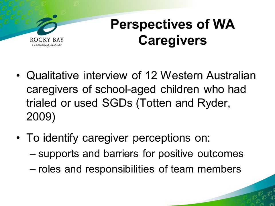 Perspectives of WA Caregivers
