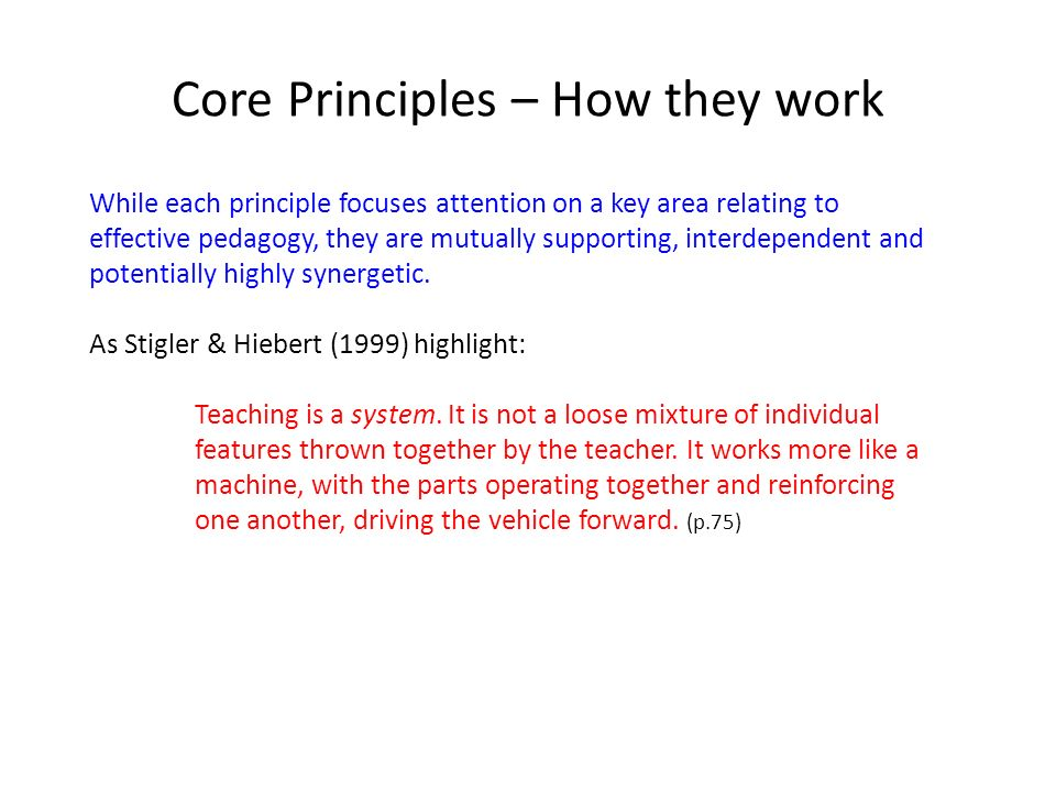 Core Principles – How they work