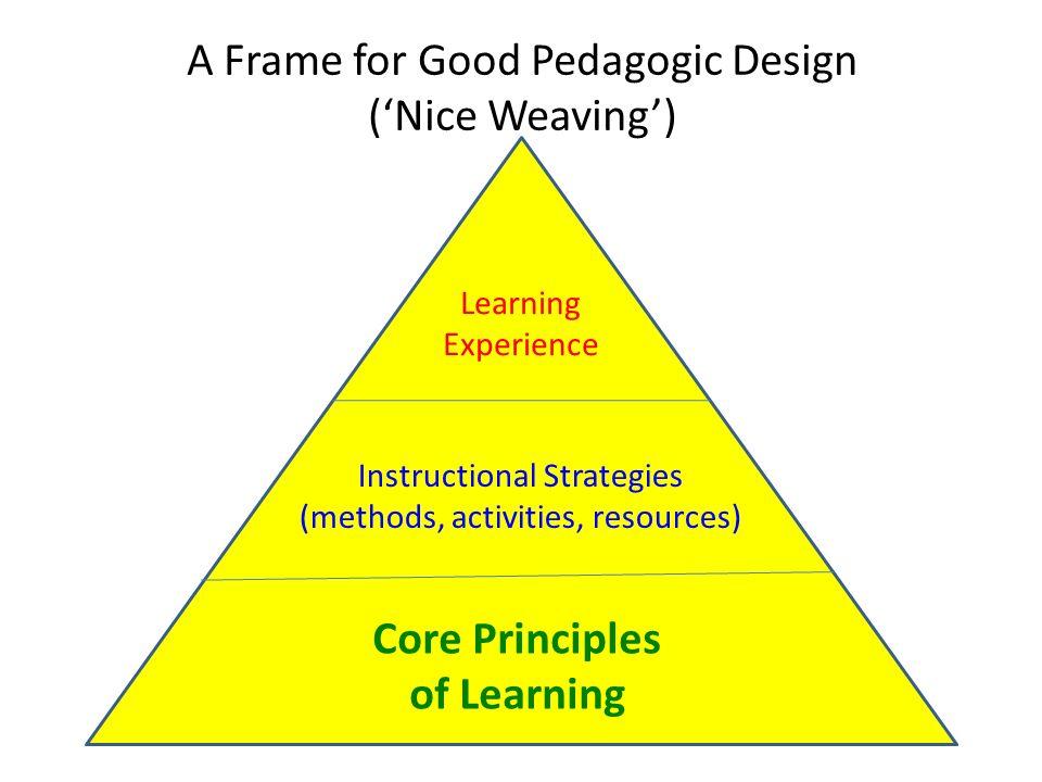 A Frame for Good Pedagogic Design ('Nice Weaving')