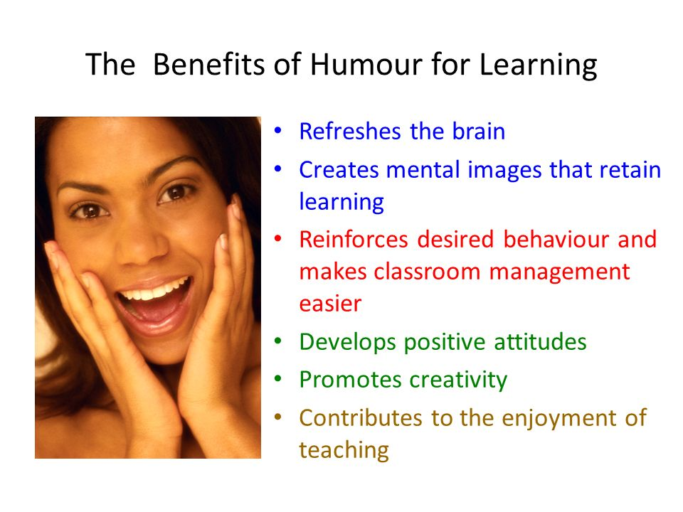 The Benefits of Humour for Learning