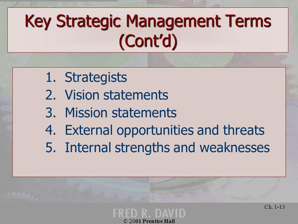 Key Strategic Management Terms (Cont'd)