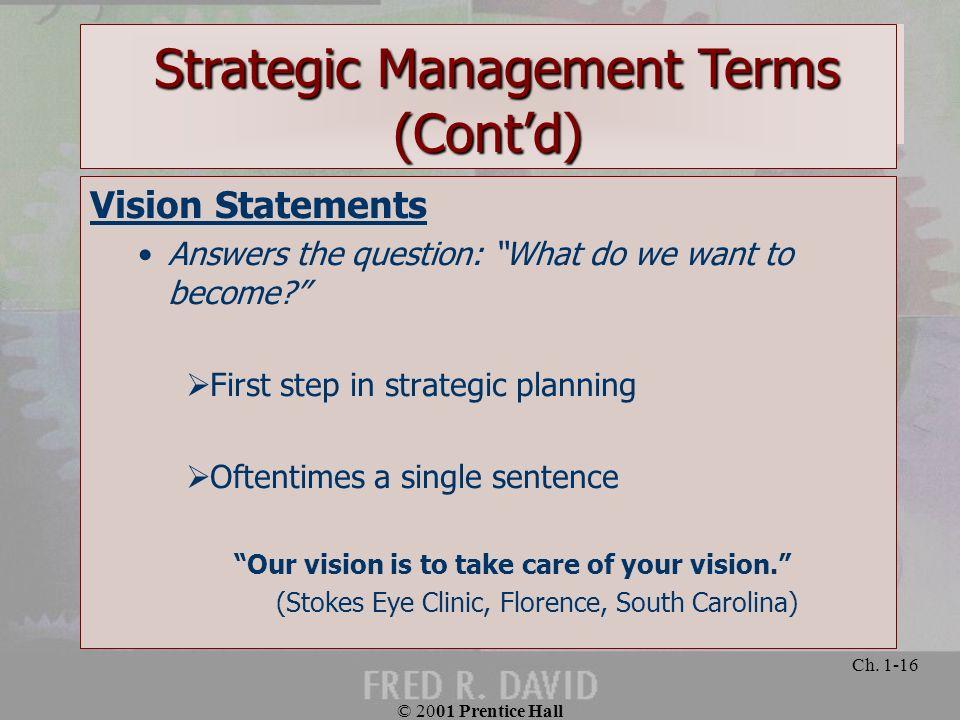 Strategic Management Terms (Cont'd)