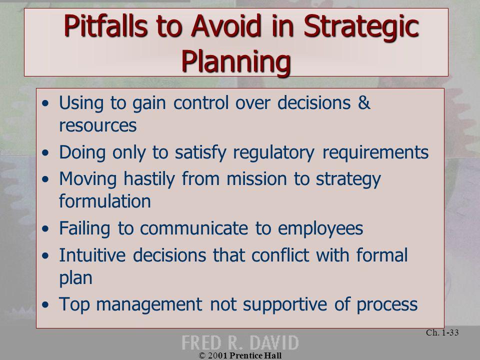 Pitfalls to Avoid in Strategic Planning