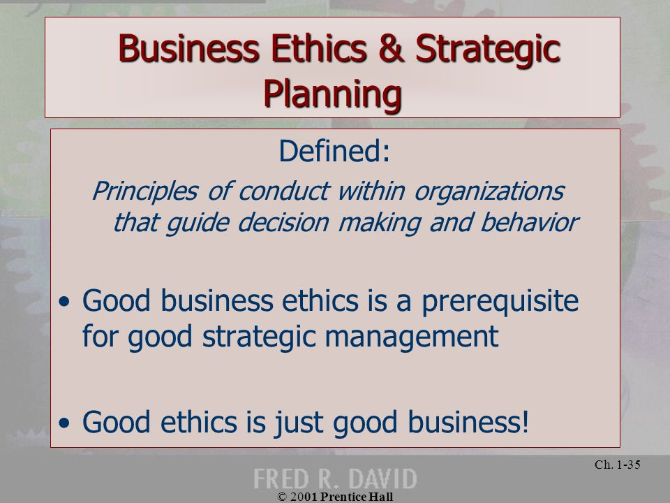 Strategic Planning Principles