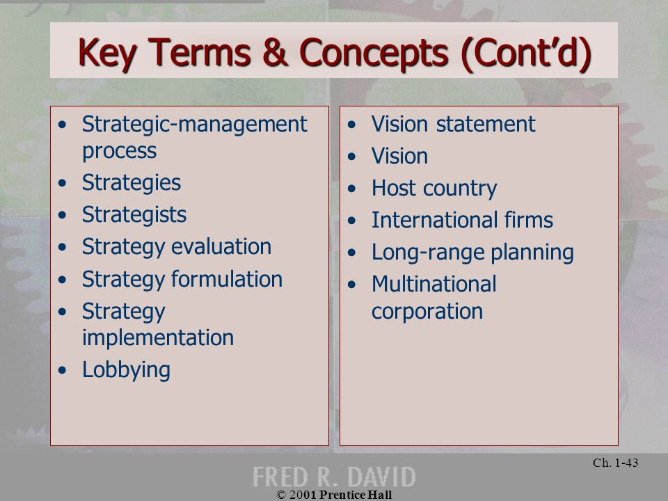 Key Terms & Concepts (Cont'd)