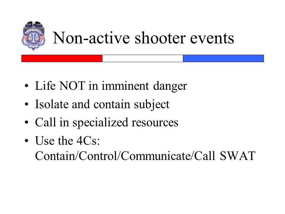 Non-active shooter events