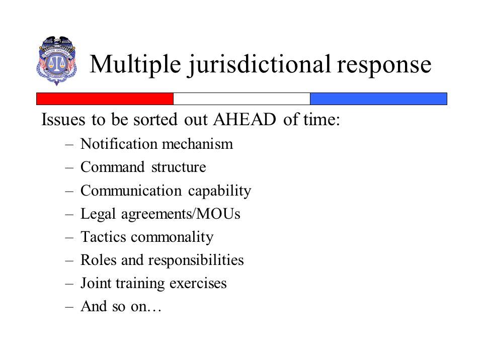Multiple jurisdictional response