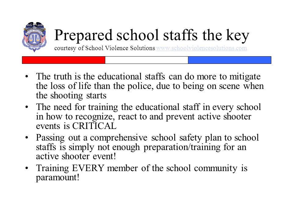 Prepared school staffs the key courtesy of School Violence Solutions www.schoolviolencesolutions.com