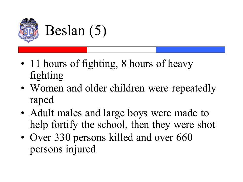Beslan (5) 11 hours of fighting, 8 hours of heavy fighting