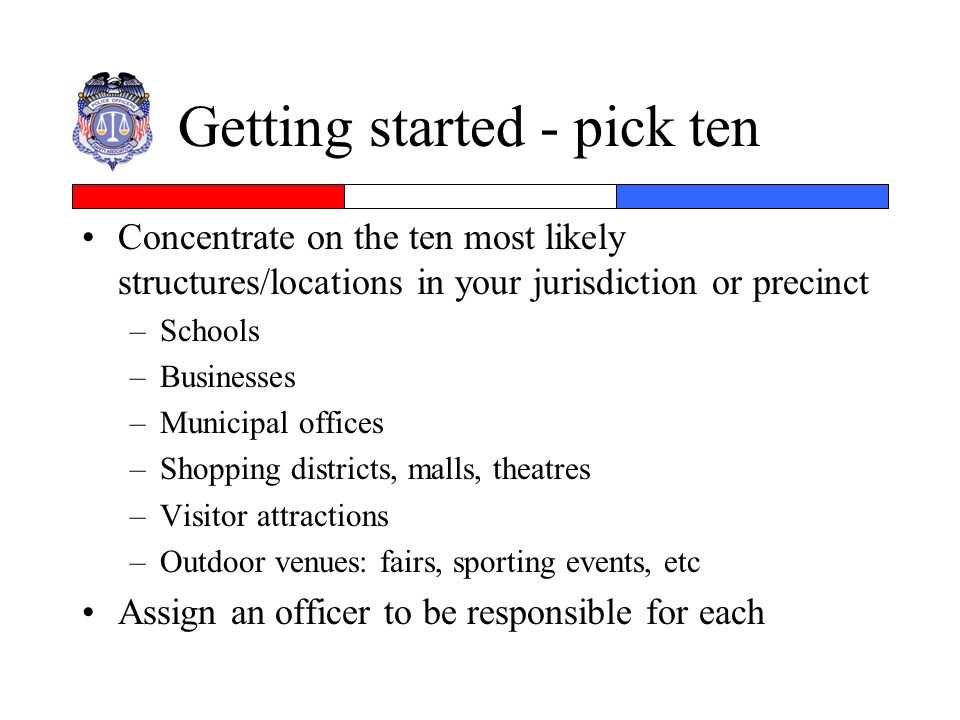 Getting started - pick ten
