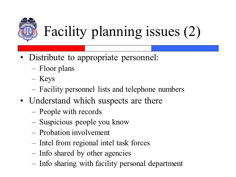 Facility planning issues (2)