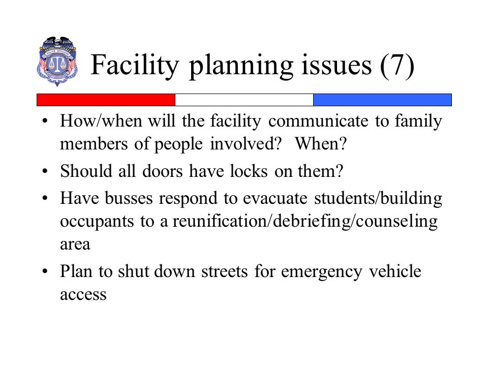 Facility planning issues (7)