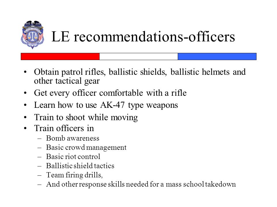 LE recommendations-officers