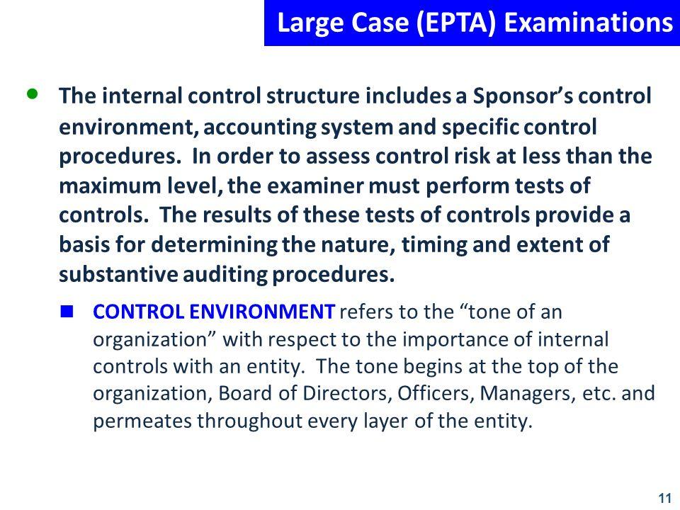 Large Case (EPTA) Examinations