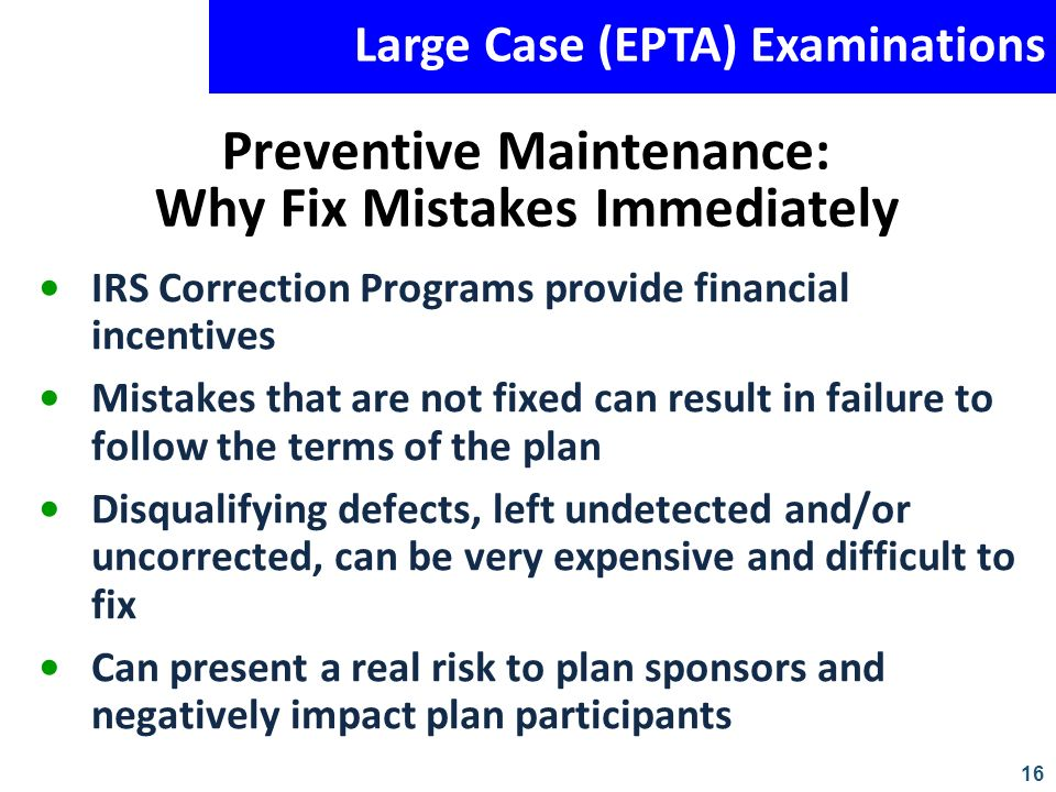Preventive Maintenance: Why Fix Mistakes Immediately