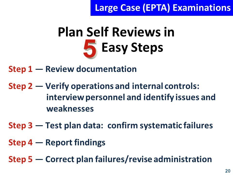 Plan Self Reviews in Easy Steps
