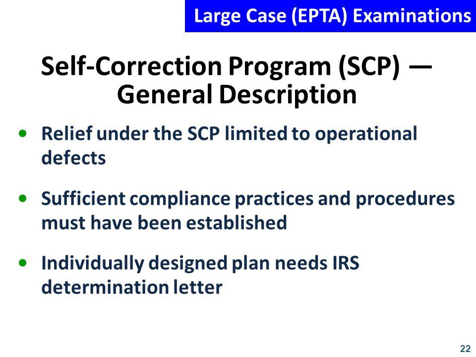 Self-Correction Program (SCP) — General Description