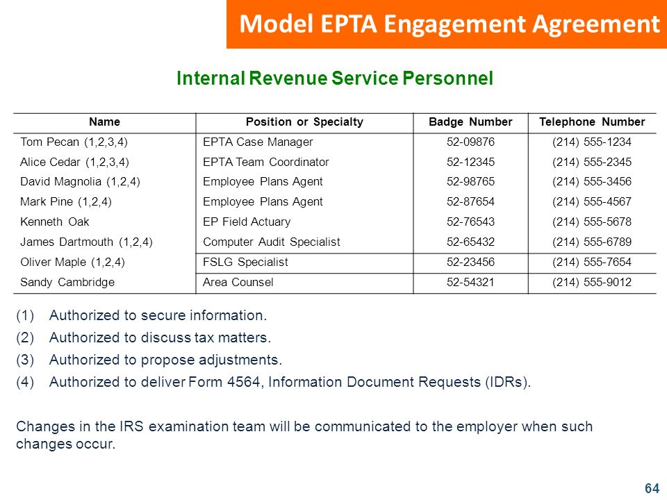 Internal Revenue Service Personnel