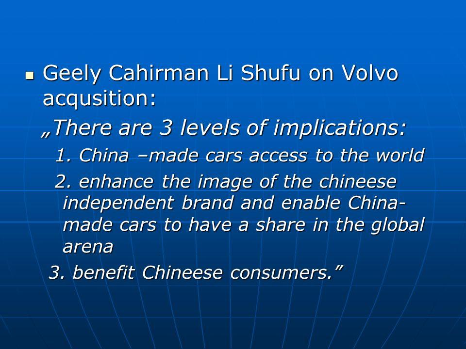 Geely Cahirman Li Shufu on Volvo acqusition: