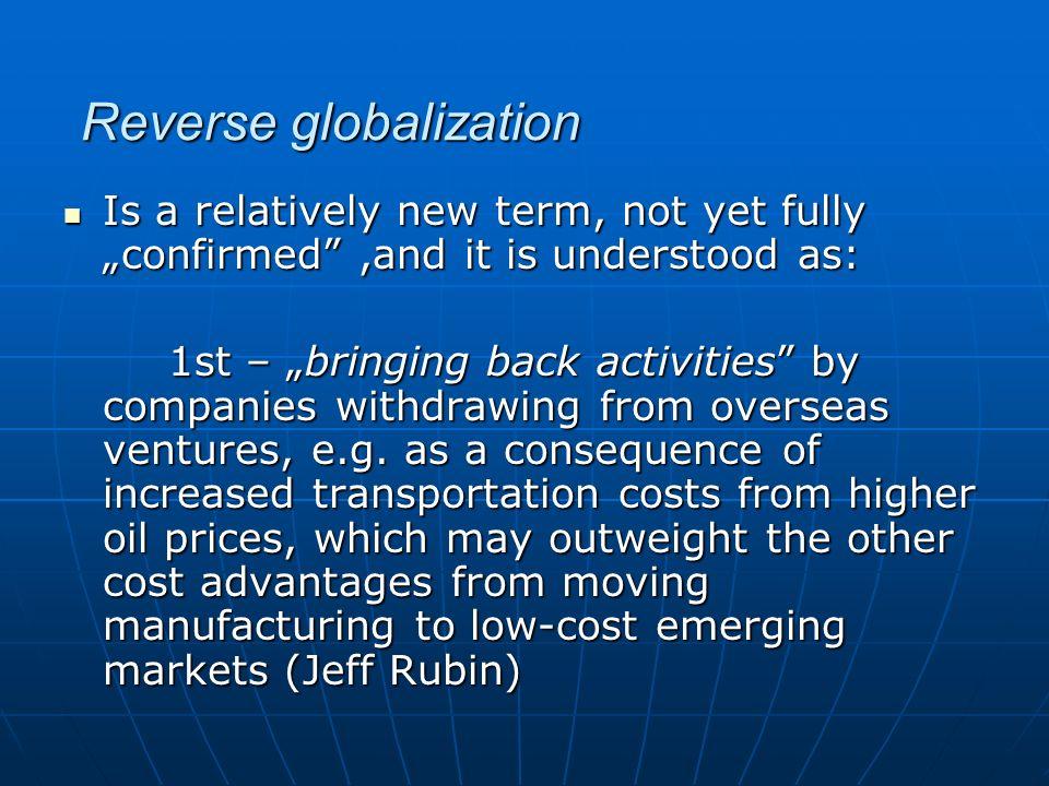 Reverse globalization