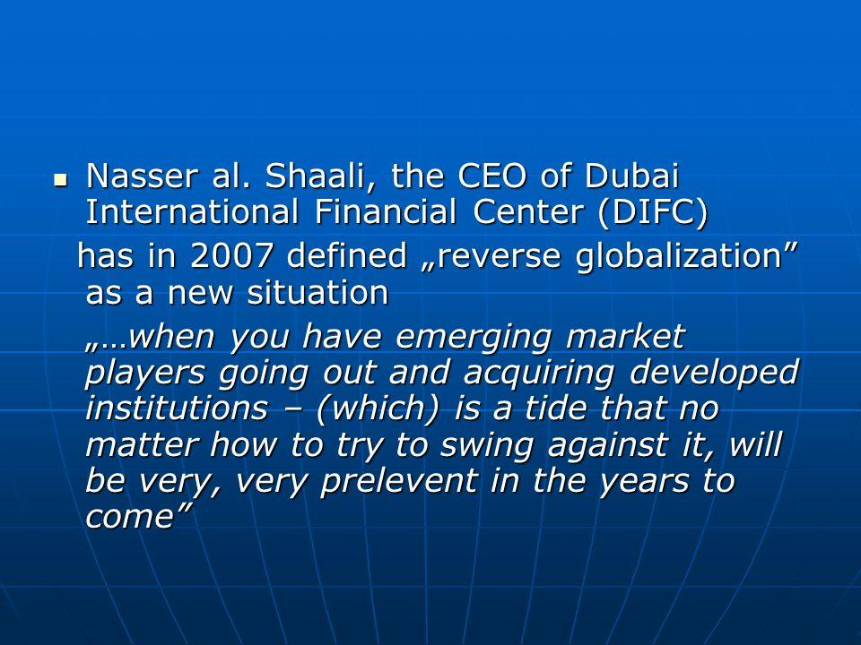 Nasser al. Shaali, the CEO of Dubai International Financial Center (DIFC)