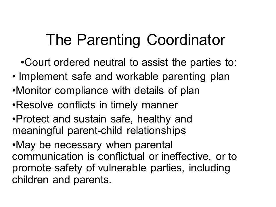 The Parenting Coordinator