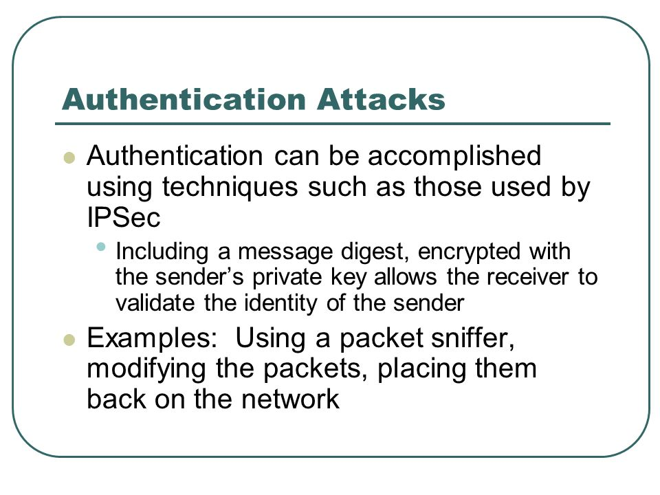 Authentication Attacks