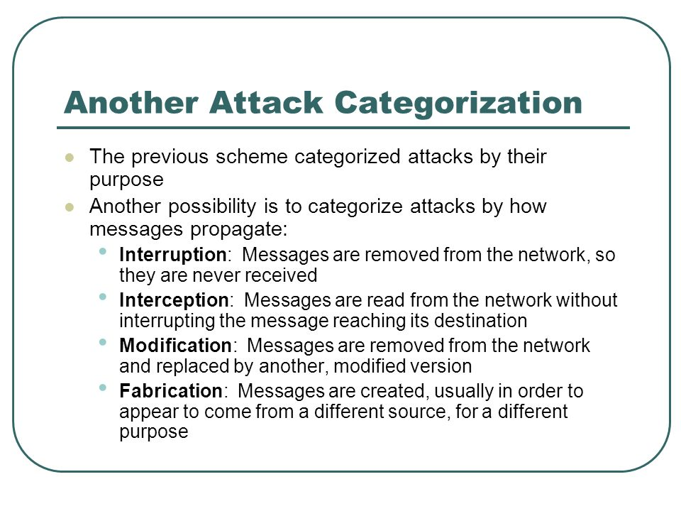 Another Attack Categorization