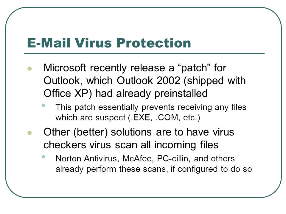 E-Mail Virus Protection