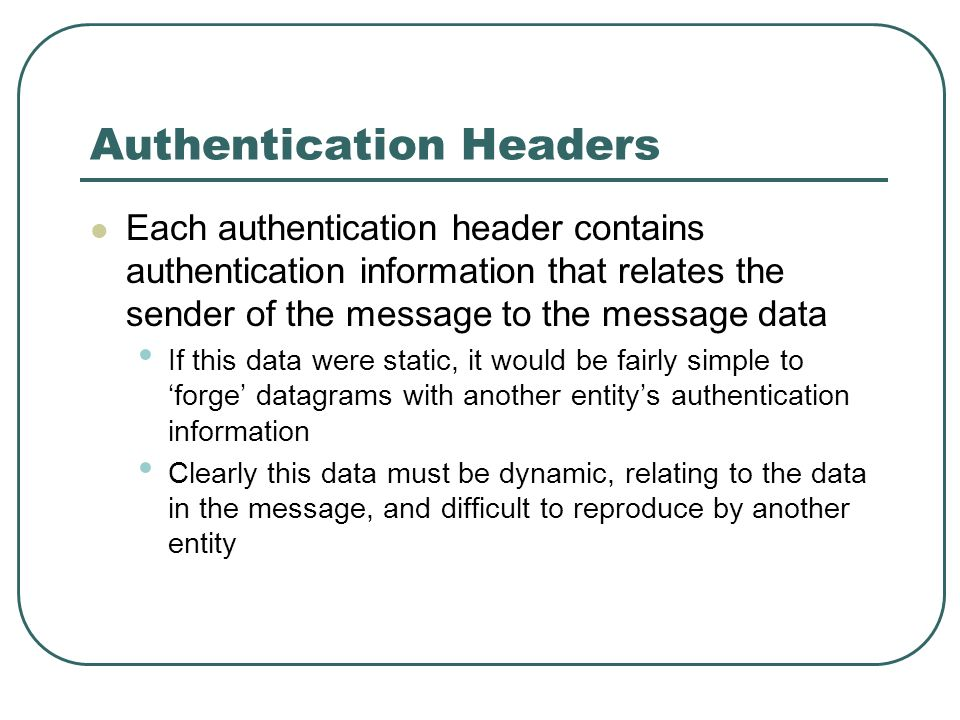 Authentication Headers