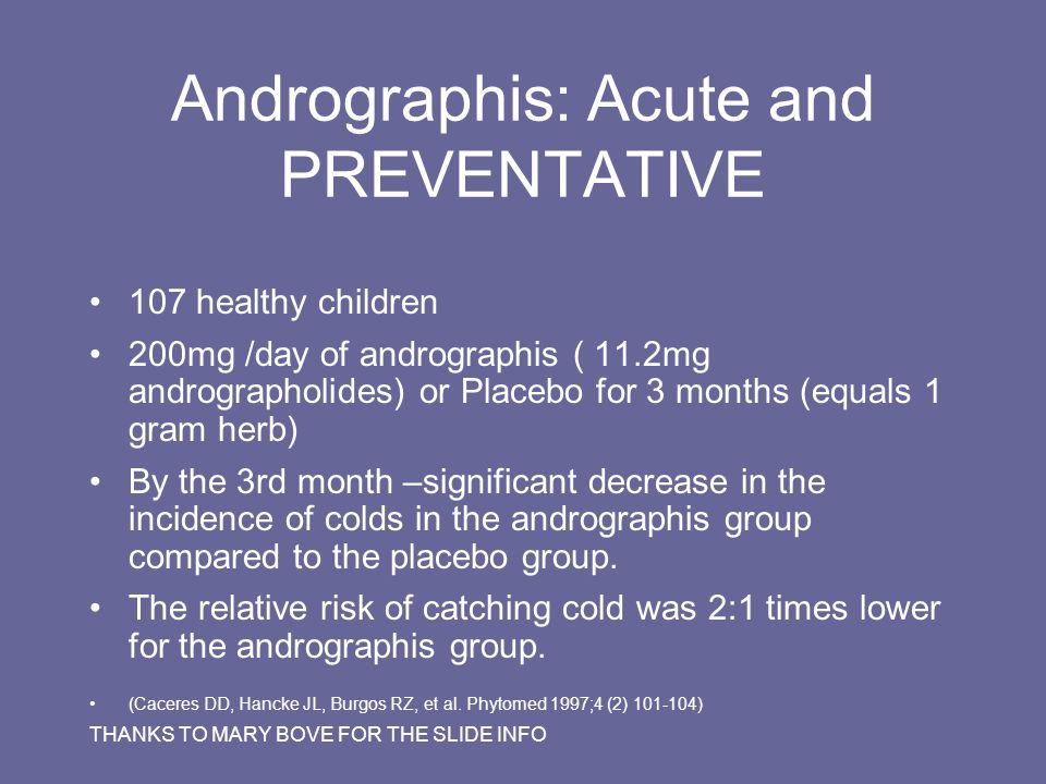 Andrographis: Acute and PREVENTATIVE