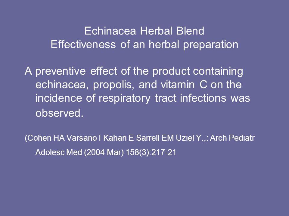 Echinacea Herbal Blend Effectiveness of an herbal preparation