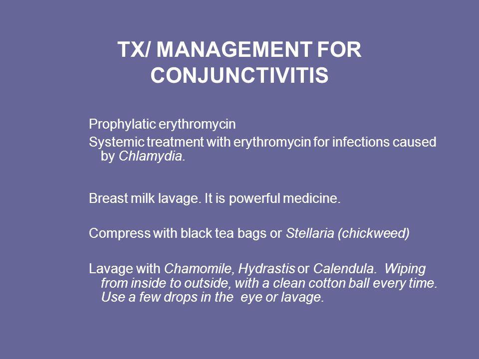 TX/ MANAGEMENT FOR CONJUNCTIVITIS