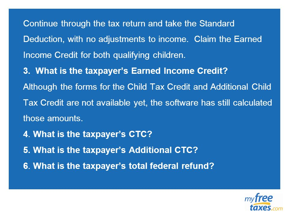 Continue through the tax return and take the Standard Deduction, with no adjustments to income.
