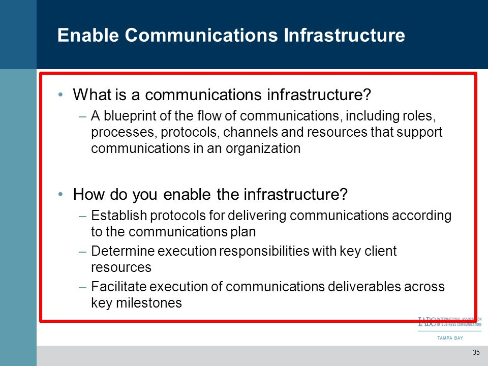Enable Communications Infrastructure
