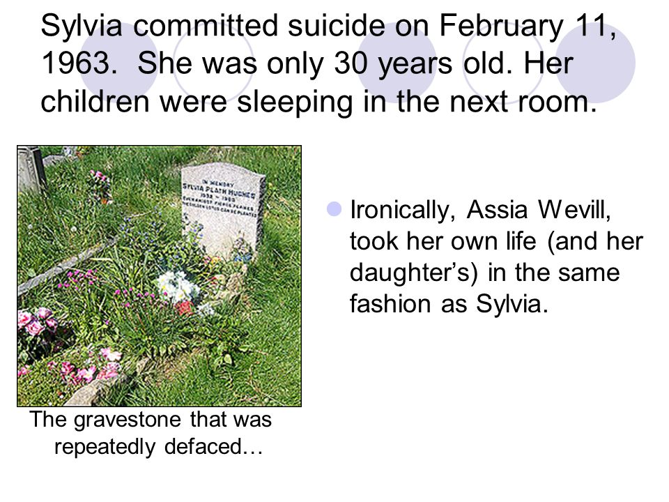 Sylvia committed suicide on February 11, 1963
